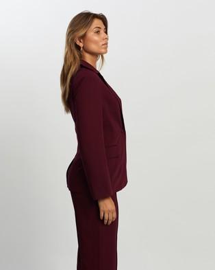 Atmos&Here Ollie Tailored Blazer Blazers Burgundy