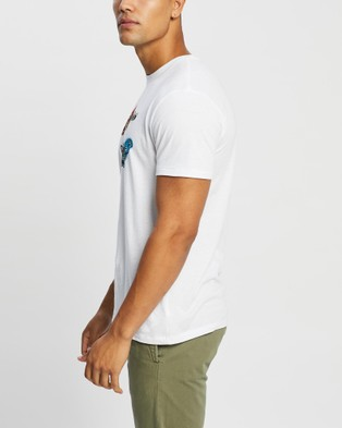 Brixton - BB Fly Now SS Tailored Tee Short Sleeve T-Shirts (White)