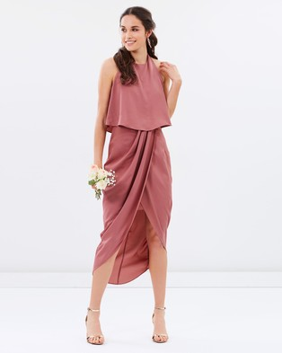 Atmos & Here – Allie Midi Dress – Bridesmaid Dresses Rose Dust