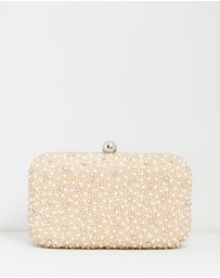 From St Xavier - Mini Pearl Box Clutch