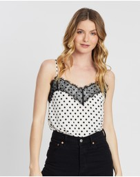 Dorothy Perkins - Spot Lace Mix Cami