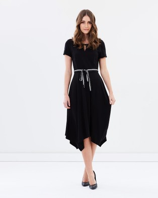 Privilege – Pure Synergy Flare Hem Dress Black