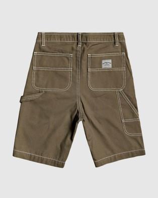 Quiksilver Boys 8 16 Gawer Workwear Short - Chino Shorts (KALAMATA)