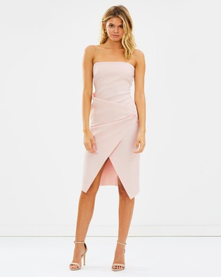 Bec & Bridge – Auriele Dress – Bodycon Dresses Shell Pink