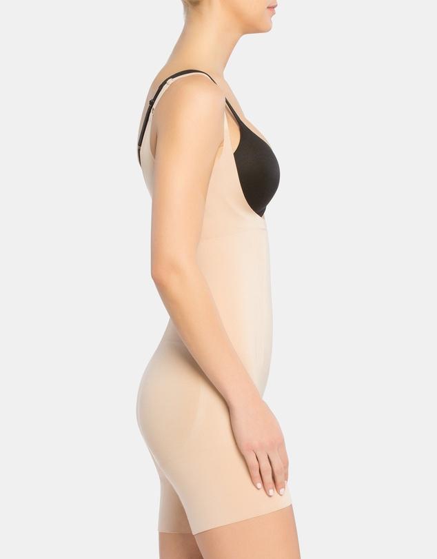 Women Oncore Open-Bust Mid-Thigh Bodysuit
