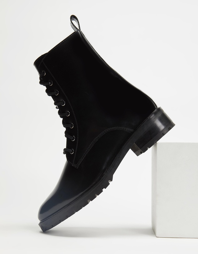 Women Janie Leather Ankle Boots