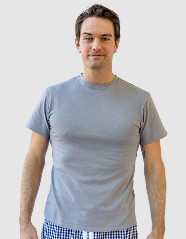 Men Men's Grey Jersey T-Shirt