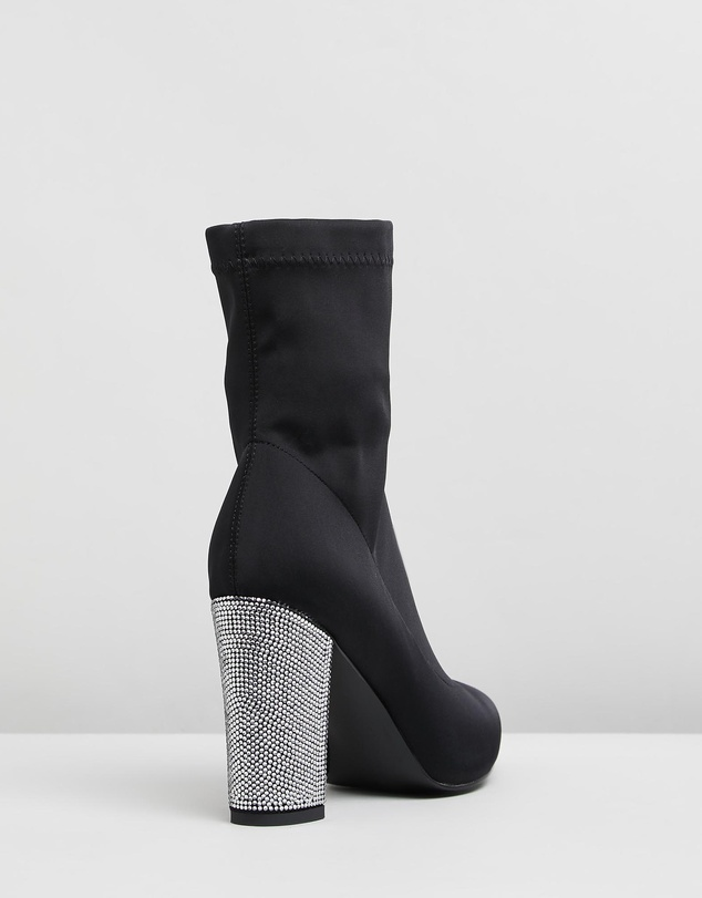 Women Crystal Skin Tight Boots