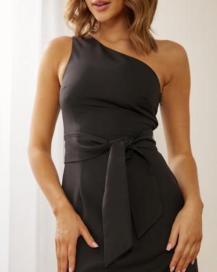 Atmos&Here - Julianne One Shoulder Dress - Dresses (Black) Julianne One Shoulder Dress