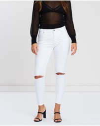 TOPSHOP - Ripped Leigh Jeans