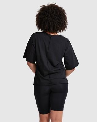 Dharma Bums Weekender Oversized Tee - T-Shirts & Singlets (Black)