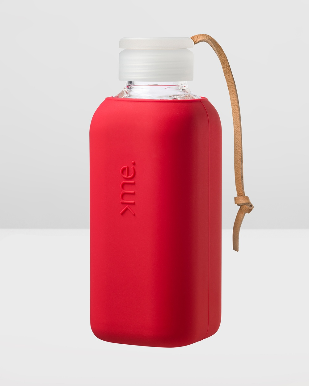 SquireMe Y1 Collection 600ml Glass Water Bottle Bottles Red