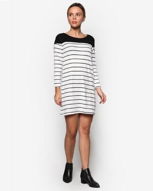 BoyFromBlighty – Striped Dress Top White