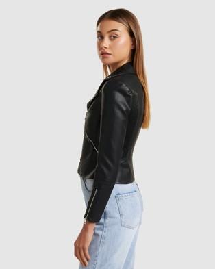 Forever New Lola Biker Jacket - Coats & Jackets (Black)
