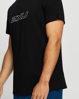 2XU Contender SS Tee - Short Sleeve T-Shirts (Black & White)