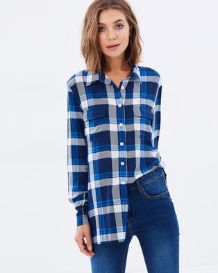 Atmos & Here – Kristie Check Lightweight Shirt – Tops (Multi Check)