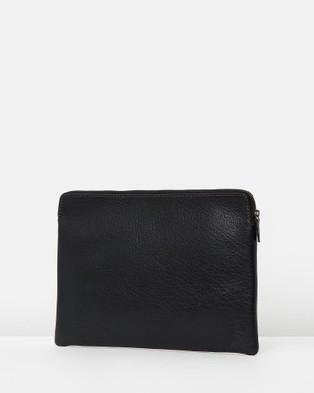 Loop Leather Co Zip Top Satchel - Tech Accessories (Black)