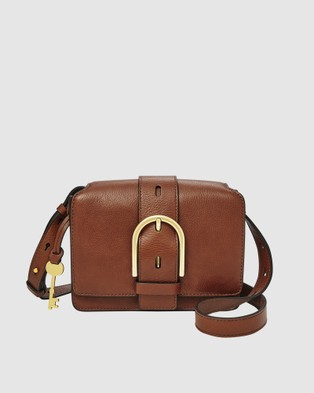 Fossil Wiley Brown Shoulder Bag - Bags (Brown)