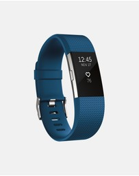 Fitbit - Fitbit Charge 2 Blue Silver