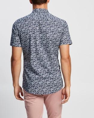 Marcs Romeo SS Voile Shirt - Shirts & Polos (Blue)