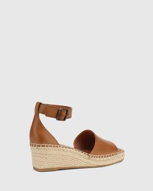 Wittner Krysta Leather Espadrille Wedge Sandals - Wedges (Tan)