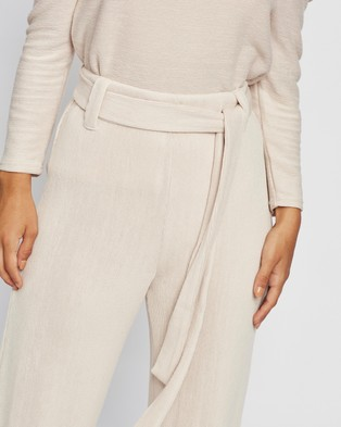 M.N.G Palazzo Trousers - Pants (Light Pastel Grey)