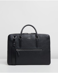 Smythson - Briefcase with Zip Front