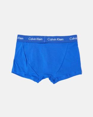 Calvin Klein 3 Pack Low  Rise Trunks - Underwear & Socks (Black, Cobalt Blue & Shadow Blue)