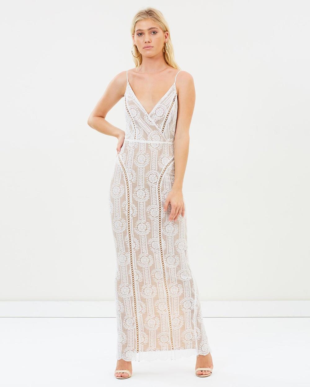 Winona Wisteria Maxi Dress Bridesmaid Dresses White Wisteria Maxi Dress