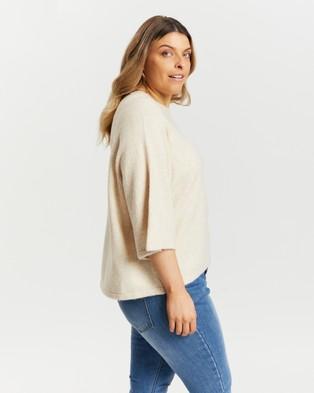 Atmos&Here Curvy - Gabriela Knitted Top - T-Shirts & Singlets (Oatmeal) Gabriela Knitted Top