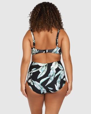 Artesands - Raphael High Waist Rouched Swim Pant Black Briefs (Black)