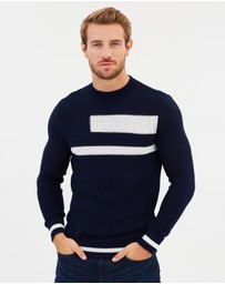 Emporio Armani - Cotton Stripe Geo Knit