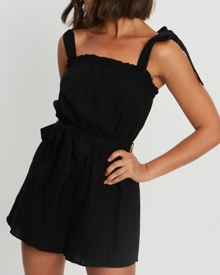 Tussah Polly Playsuit - Jumpsuits & Playsuits (Black)