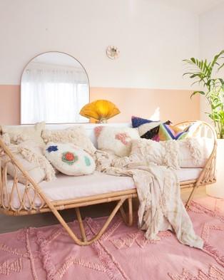 Langdon Fleur Cushion - Home (Cream)