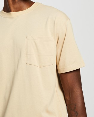 Locale Heavy SS Work Tee - T-Shirts & Singlets (Sand)