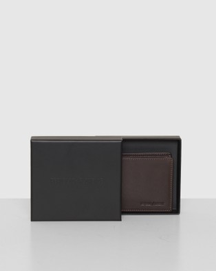 Republic of Florence Vivaldi Slim Bi fold Soft Leather Wallet - Wallets (Chocolate)