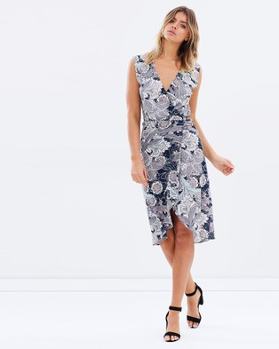 Lilya – Lumira Wrap Midi Dress Rafeala Print