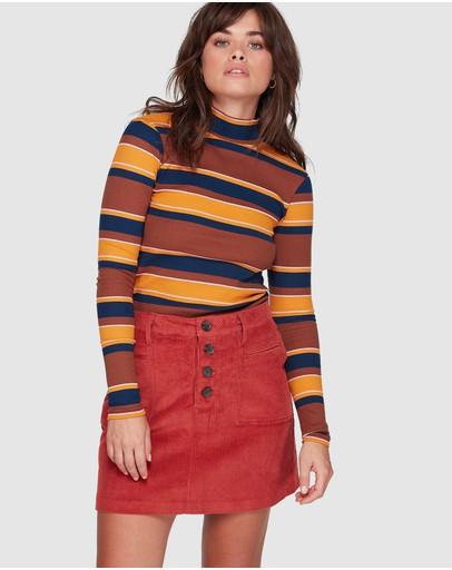 Element Ryder Cord Skirt Red Ochre