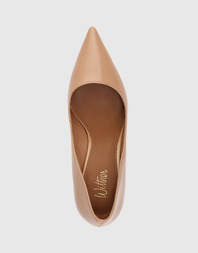 Women Quendra Patent Leather Pointed Toe Pumps