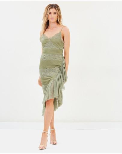 Cooper St Helena Drape Lace Dress Sage