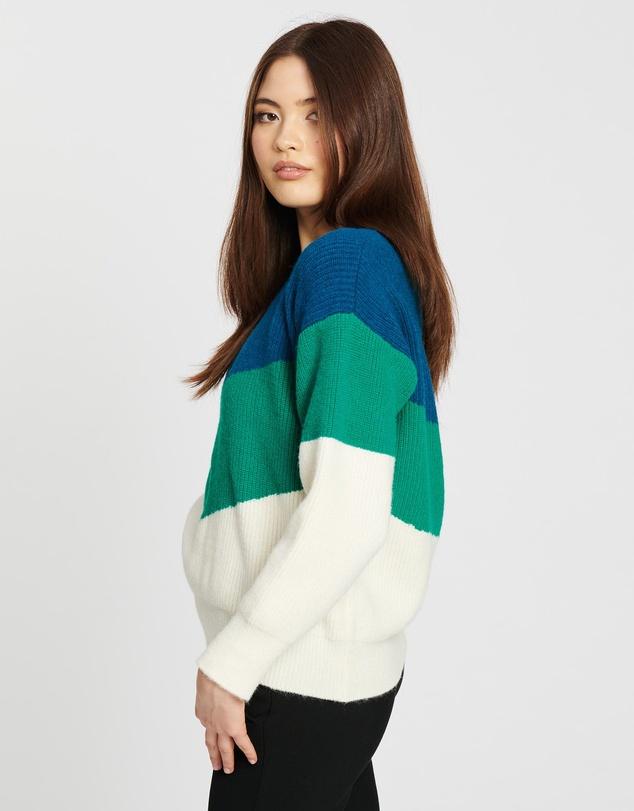 Women Kayla Colour Block Knit Jumper
