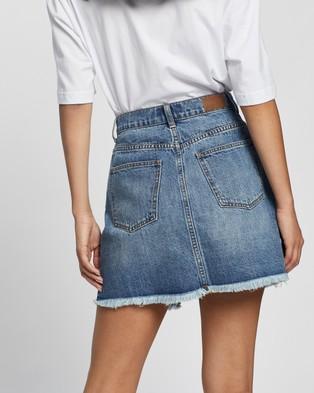 Rusty Picasso Denim Skirt - Denim skirts (Thread Blue)