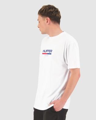Huffer - Sup Tee Longtom - T-Shirts & Singlets (White) Sup Tee-Longtom