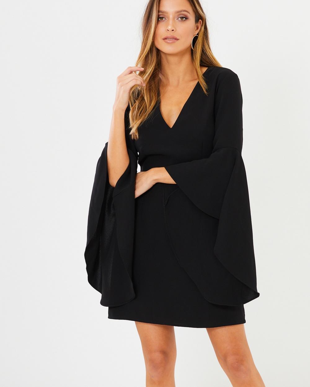 Tussah Rosanne Mini Dress Dresses Black Rosanne Mini Dress