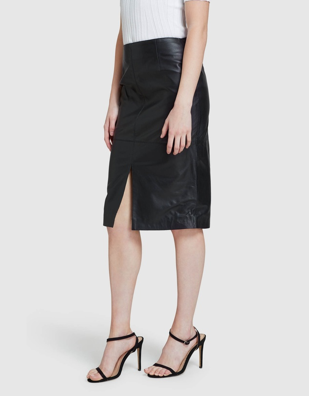Women Darby Leather Pencil Skirt