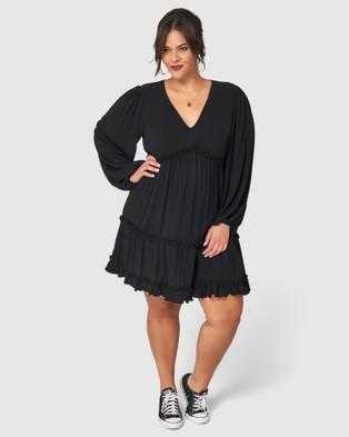 Sunday In The City Jet Lag Midi Dress - Dresses (Black)