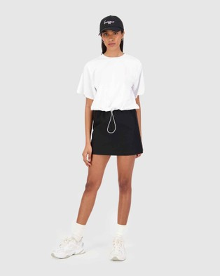 Huffer Arcadia Cinch Tee - T-Shirts & Singlets (White)