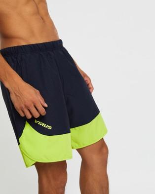 Virus ST8 Origin 2 Active Shorts - Shorts (Midnight Blue & Lime Punch)