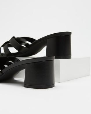 Atmos&Here Biarritz Leather Heels - Heels (Black Leather)
