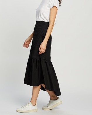 Atmos&Here Connie Cotton Skirt - Skirts (Black)